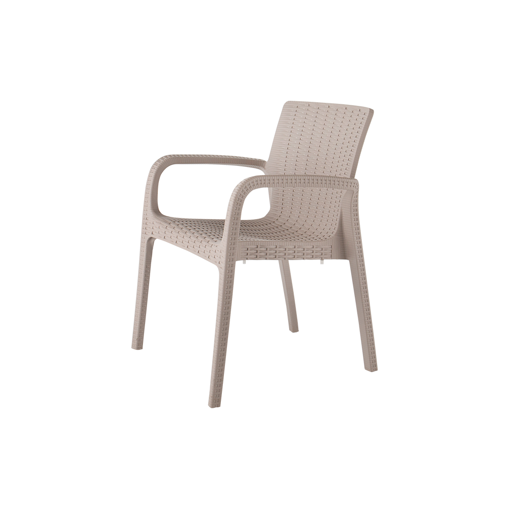 Koppla Ratten Dinning Arm Chair