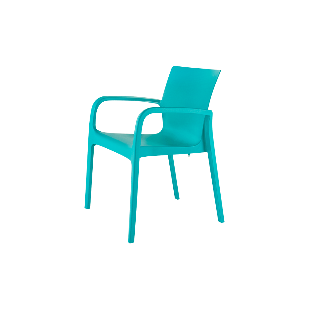 Alissa Stackable Patio Dining Arm Chair