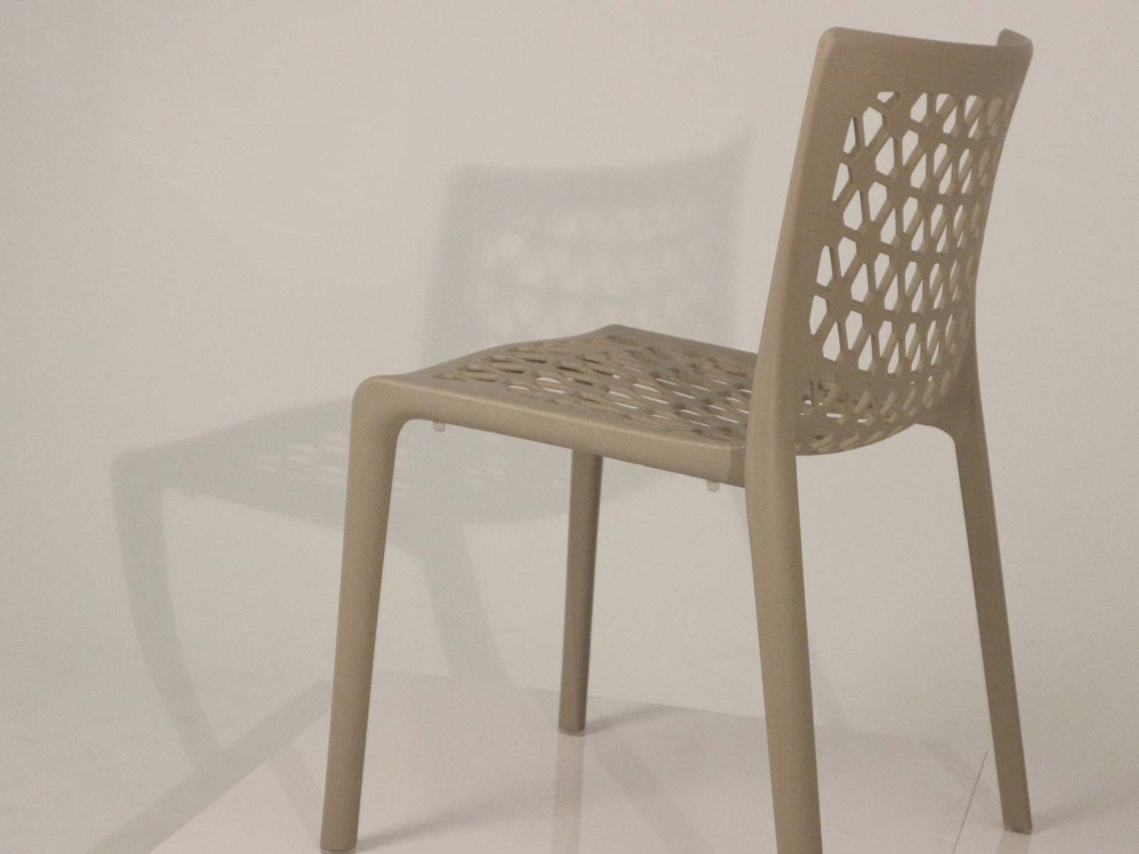 Milan Stackable Patio Dining Chair detail